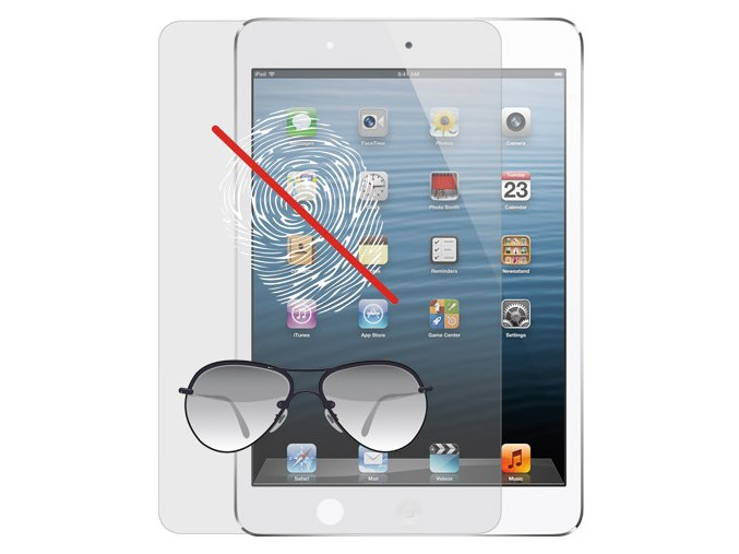 Ochranná fólie pro Apple iPad Mini 1 / 2 / 3 - Ozaki, O!coat Anti-glare & Fingerprint+