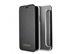 Pouzdro / kryt pro iPhone X - Guess, Iridescent Black Book