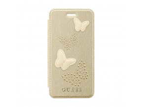 Pouzdro / kryt pro Apple iPhone 7 / 8 - Guess, Studs and Sparkle Beige Book