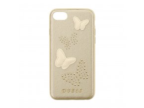 Pouzdro / kryt pro Apple iPhone 7 / 8 - Guess, Studs and Sparkle Beige Back
