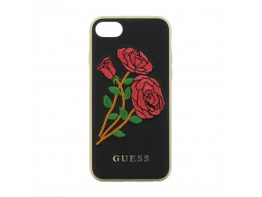 Pouzdro / kryt pro Apple iPhone 7 / 8 - Guess, Flower Desire Black Back
