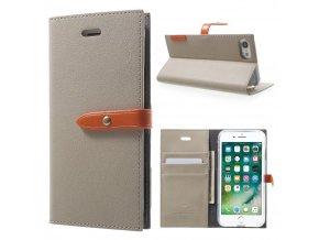 Pouzdro / kryt pro iPhone 7 / 8 - Mercury, Romance Diary GREY/ORANGE