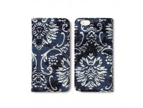 Pouzdro / kryt pro Apple iPhone 6 / 6S - Zenus, Denim Baroque Diary