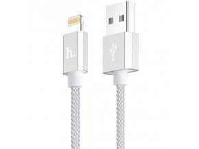 Certifikovaný kabel lightning pro iPhone a iPad - Hoco, UPF01 Silver