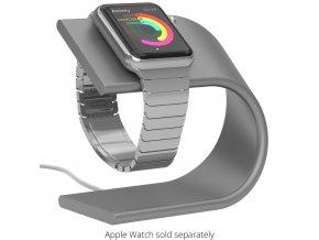 Hliníkový nabíjecí stojánek pro Apple Watch 38mm / 42mm - Nomad, Silver