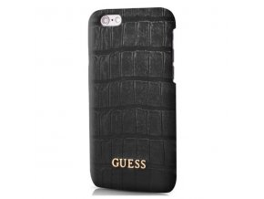 Pouzdro / kryt pro Apple iPhone 6 / 6S - Guess, Shiny Croco Back Black
