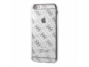 Pouzdro / kryt pro Apple iPhone 6 / 6S - Guess, 4G TPU Silver