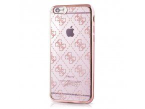 Pouzdro / kryt pro Apple iPhone 6 / 6S - Guess, 4G TPU Rose Gold