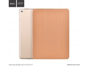 Pouzdro / kryt pro iPad Pro 9.7 - Hoco, Cube Brown