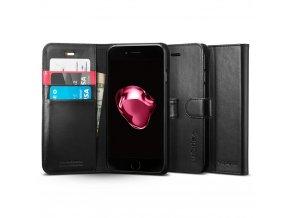 Pouzdro / kryt pro iPhone 7 PLUS / 8 PLUS - Spigen, Wallet S Black