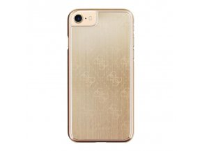 Pouzdro / kryt pro Apple iPhone 7 / 8 - Guess, 4G Aluminum Gold