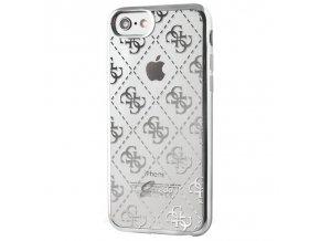Pouzdro / kryt pro Apple iPhone 7 / 8 - Guess, 4G TPU Silver