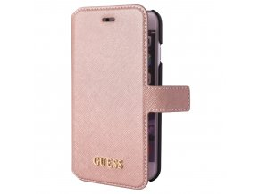 Pouzdro / kryt pro Apple iPhone 8 / 7 / 6S / 6 - Guess, Saffiano Book Pink