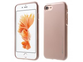 Pouzdro / kryt pro Apple iPhone 7 / 8 - Mercury, i-Jelly Rose Gold