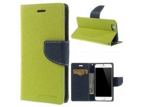 Pouzdro / kryt pro Apple iPhone 6 / 6S - Mercury, Fancy Diary Lime/Navy