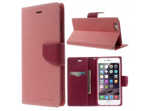 Pouzdro / kryt pro Apple iPhone 6 Plus / 6S Plus - Mercury, Fancy Diary PINK/HOTPINK