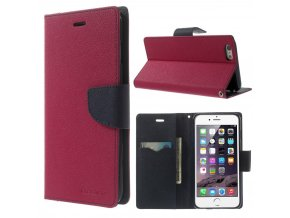 Pouzdro / kryt pro Apple iPhone 6 Plus / 6S Plus - Mercury, Fancy Diary HOTPINK/NAVY