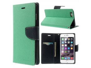Pouzdro / kryt pro Apple iPhone 6 Plus / 6S Plus - Mercury, Fancy Diary MINT/NAVY
