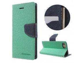 Pouzdro / kryt pro iPhone 7 / 8 - Mercury, Fancy Diary MINT/NAVY