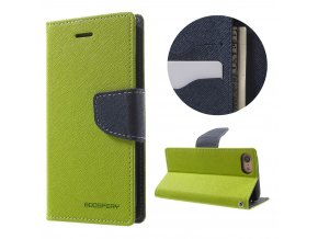 Pouzdro / kryt pro iPhone 7 / 8 - Mercury, Fancy Diary LIME/NAVY
