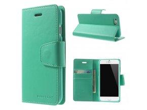 Pouzdro / kryt pro Apple iPhone 6 / 6S - Mercury, Sonata Diary Mint