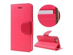 Pouzdro / kryt pro iPhone 7 / 8 - Mercury, Sonata Diary Hotpink
