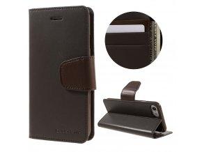 Pouzdro / kryt pro iPhone 7 / 8 - Mercury, Sonata Diary Brown