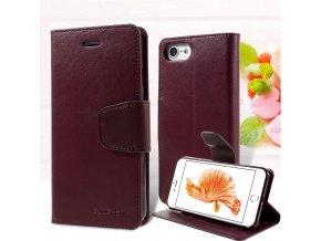 Pouzdro / kryt pro iPhone 7 / 8 - Mercury, Sonata Diary Wine