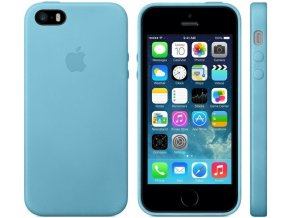 Pouzdro / kryt pro iPhone 5 / 5S / SE - Apple, Leather Case Blue