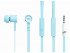 Sluchátka pro iPhone a iPad - SWISSTEN, EARBUDS RAINBOW AZUR