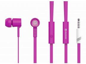 Sluchátka pro iPhone a iPad - SWISSTEN, EARBUDS RAINBOW PINK