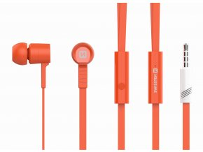 Sluchátka pro iPhone a iPad - SWISSTEN, EARBUDS RAINBOW ORANGE