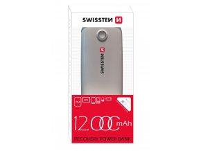 Externí baterie pro iPhone a iPad - SWISSTEN, RECOVERY POWER BANK 12000mAh