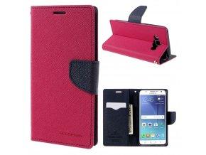 Pouzdro / kryt pro Samsung GALAXY J5 (2016) J510 - Mercury, Fancy Diary Hotpink/Navy