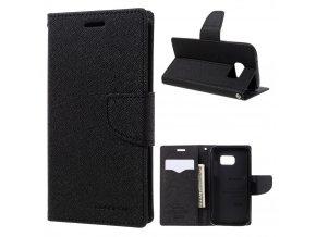 Pouzdro / kryt pro Samsung Galaxy S7 - Mercury, Fancy Diary Black/Black