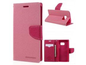 Pouzdro / kryt pro Samsung Galaxy S7 - Mercury, Fancy Diary Pink/Hotpink