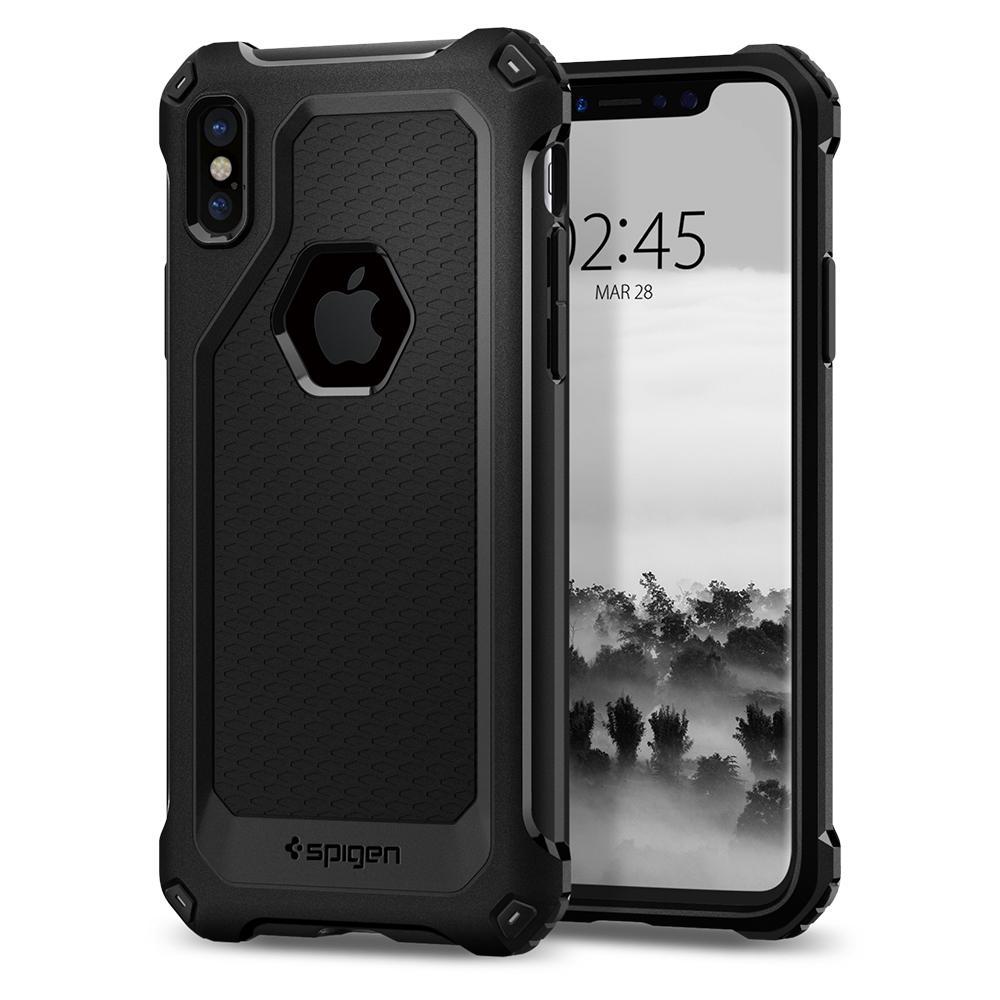 Ochranný kryt pro iPhone X - Spigen, Rugged Armor Extra Black