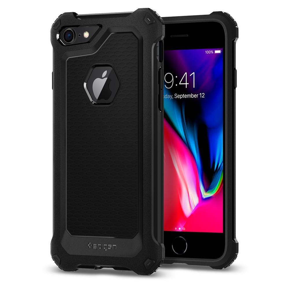 Ochranný kryt pro iPhone 7 / 8 - Spigen, Rugged Armor Extra Black