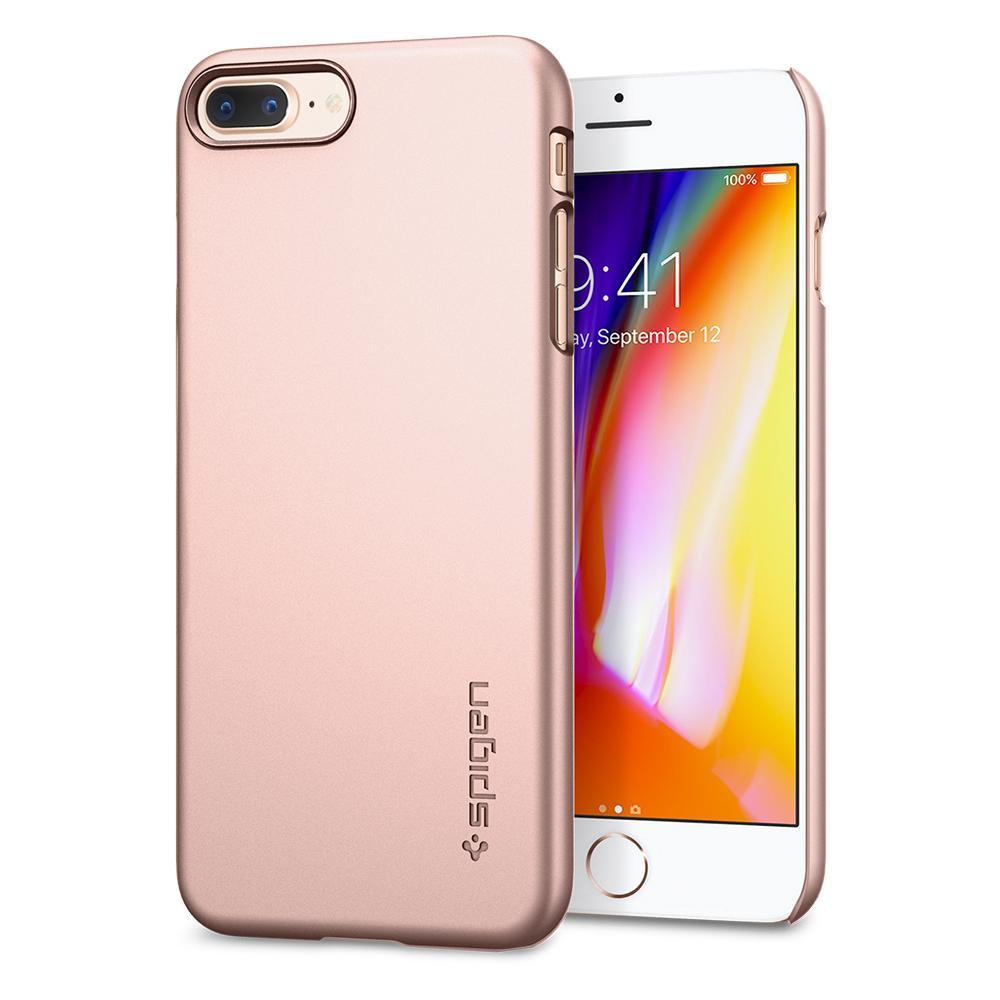 Ochranný kryt pro iPhone 7 PLUS / 8 PLUS - Spigen, Thin Fit Rose Gold