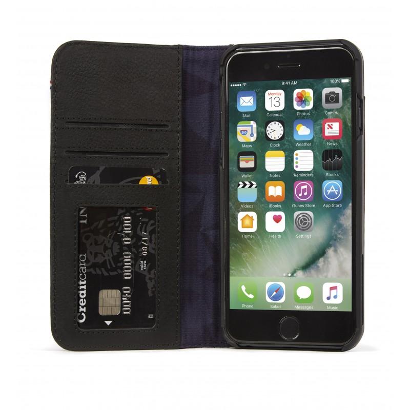 Pouzdro / kryt pro iPhone 8 PLUS / 7 PLUS / 6S PLUS / 6 PLUS - Decoded, Leather Wallet Black