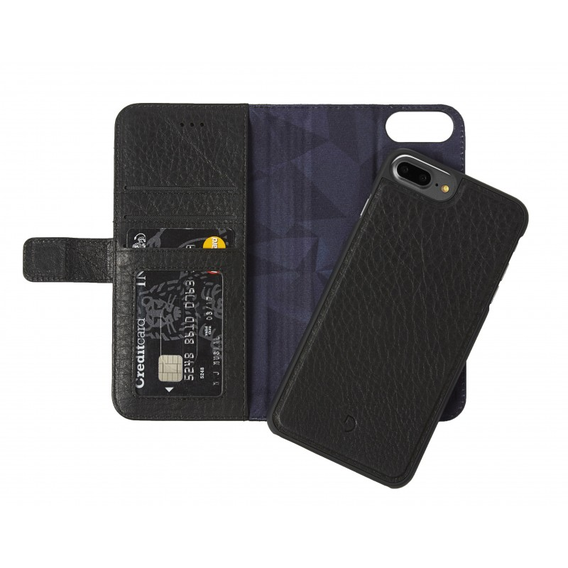 Pouzdro / kryt pro iPhone 8 PLUS / 7 PLUS / 6S PLUS / 6 PLUS - Decoded, Leather 2in1 Wallet Black