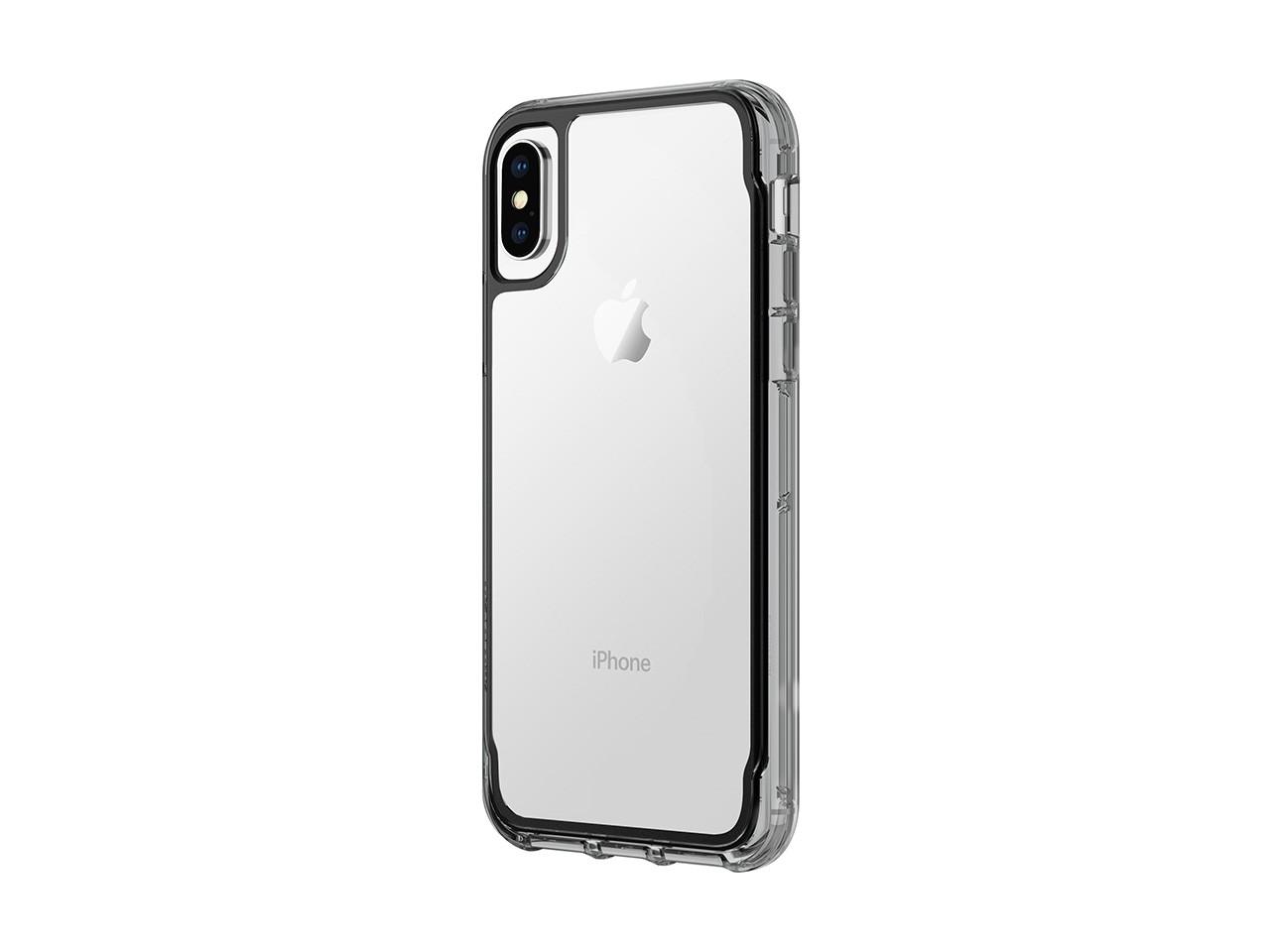 Ochranný kryt pro iPhone X - Griffin, Survivor Clear Black