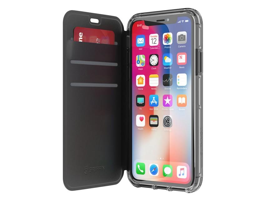 Ochranný kryt pro iPhone X - Griffin, Survivor Clear Wallet