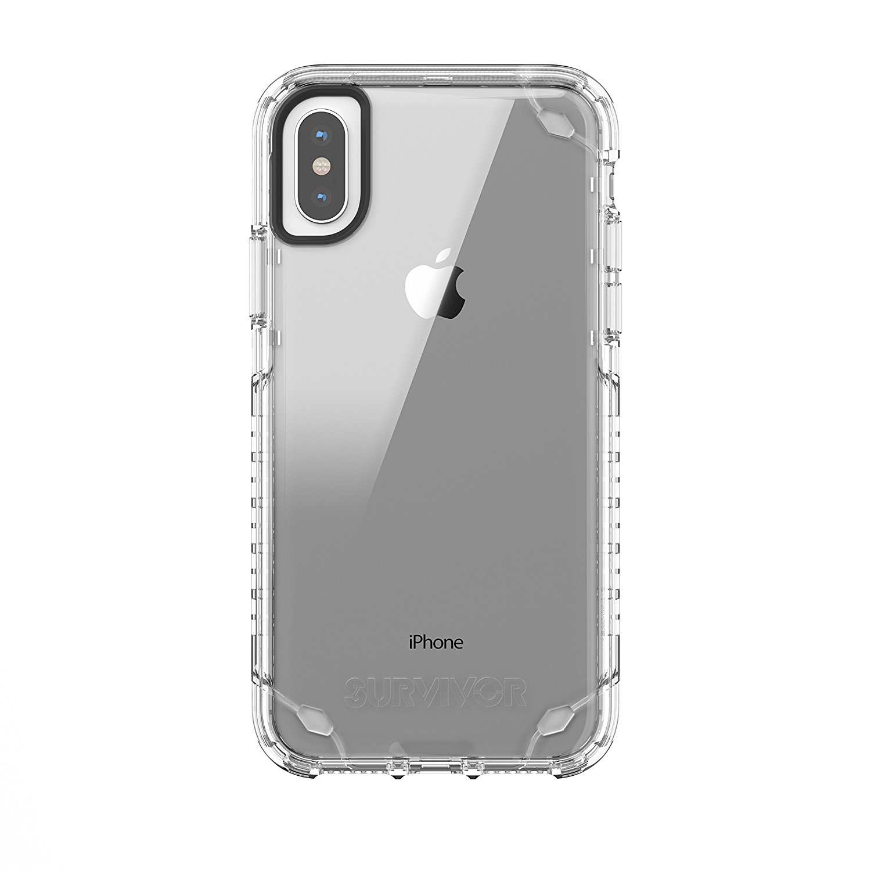 Ochranný kryt pro iPhone X - Griffin, Survivor Strong Clear