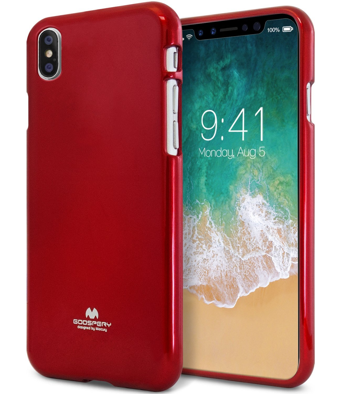 Ochranný kryt pro iPhone X - Mercury, Jelly Case Red
