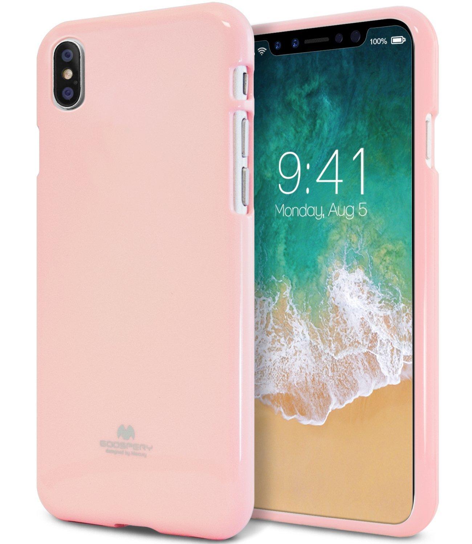 Ochranný kryt pro iPhone X - Mercury, Jelly Case Pink
