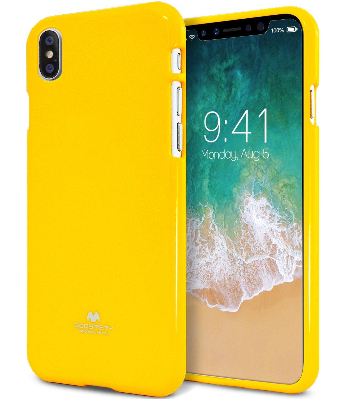 Ochranný kryt pro iPhone X - Mercury, Jelly Case Yellow