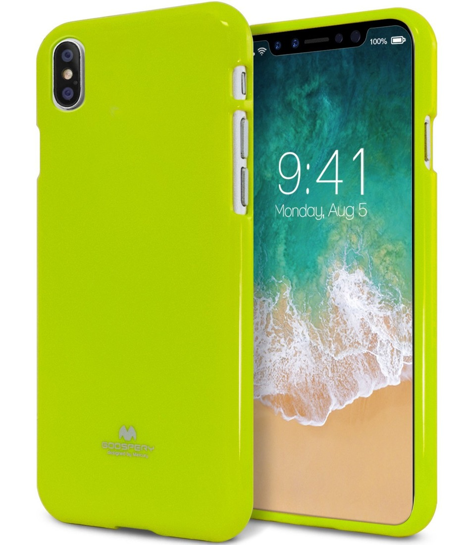 Ochranný kryt pro iPhone X - Mercury, Jelly Case Lime