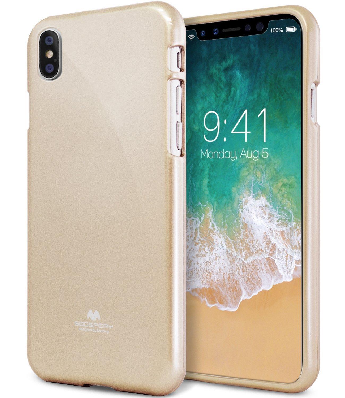 Ochranný kryt pro iPhone X - Mercury, Jelly Case Gold