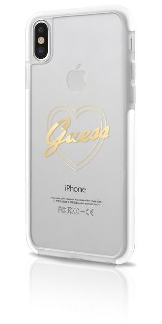 Ochranný kryt pro iPhone X - Guess, ShockProof Gold